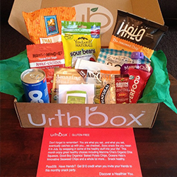 A box of snacks from Urthbox.