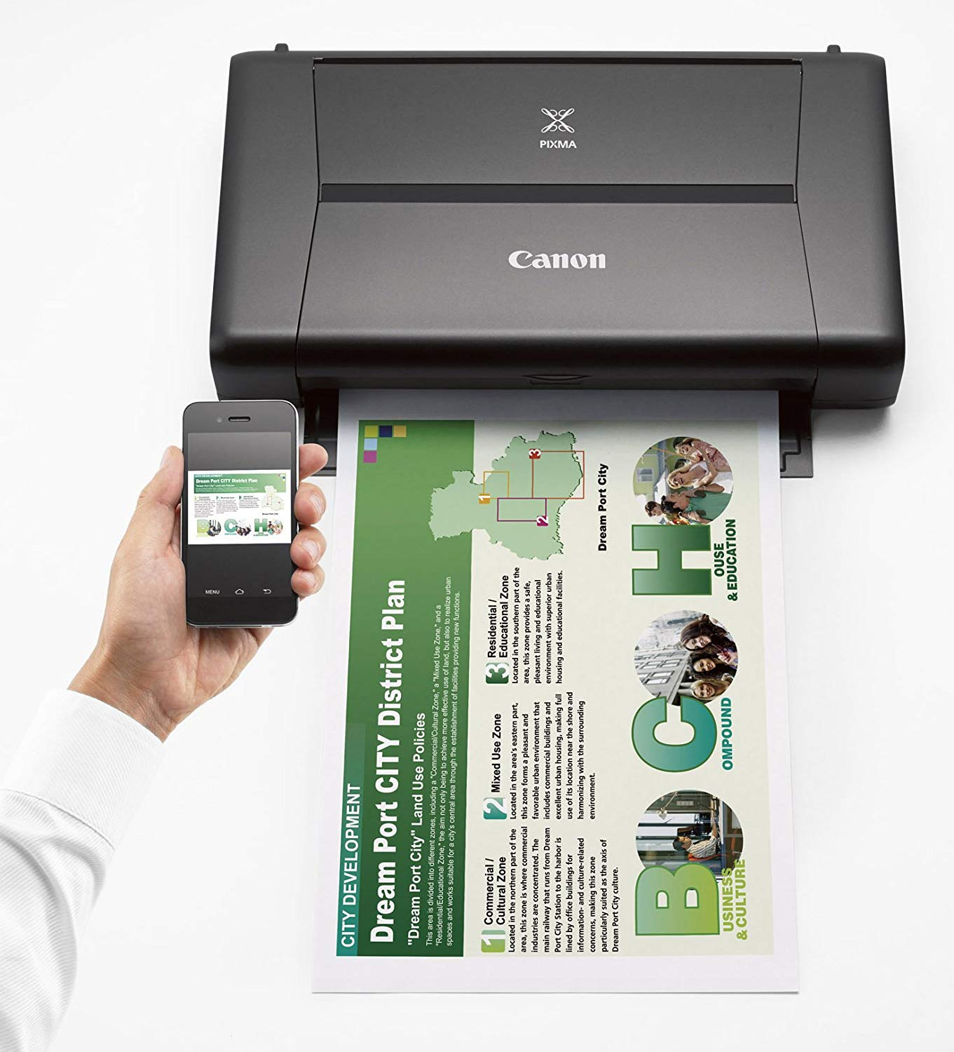 A wireless printer from Canon.