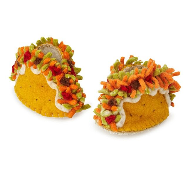 Cute little shoes that look like Tacos.