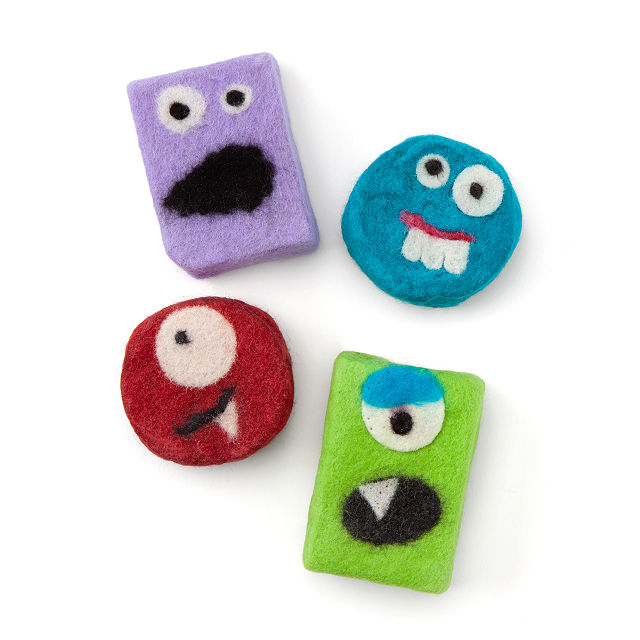 Soap with monster faces
