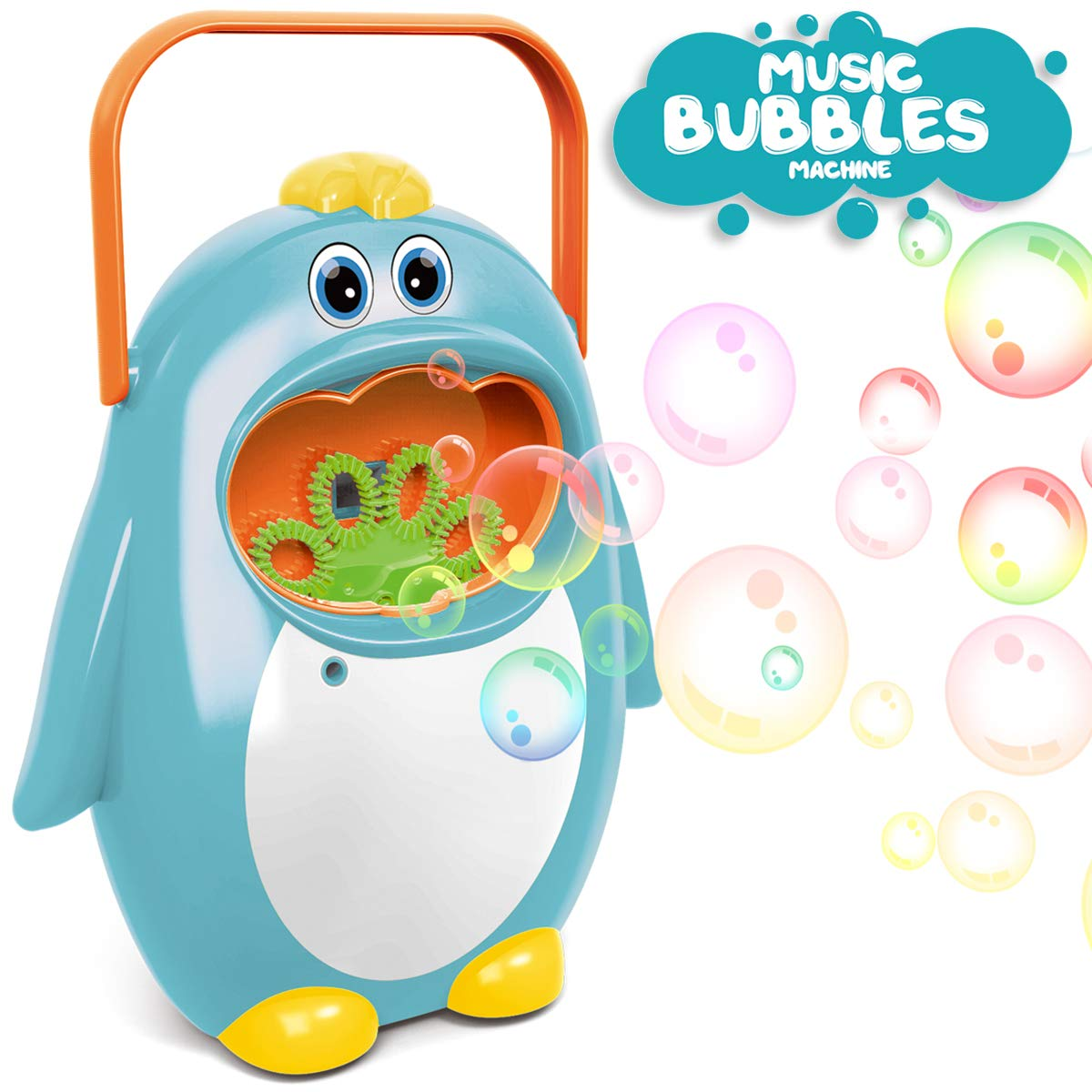 A bubble machine that looks like a Penguin.