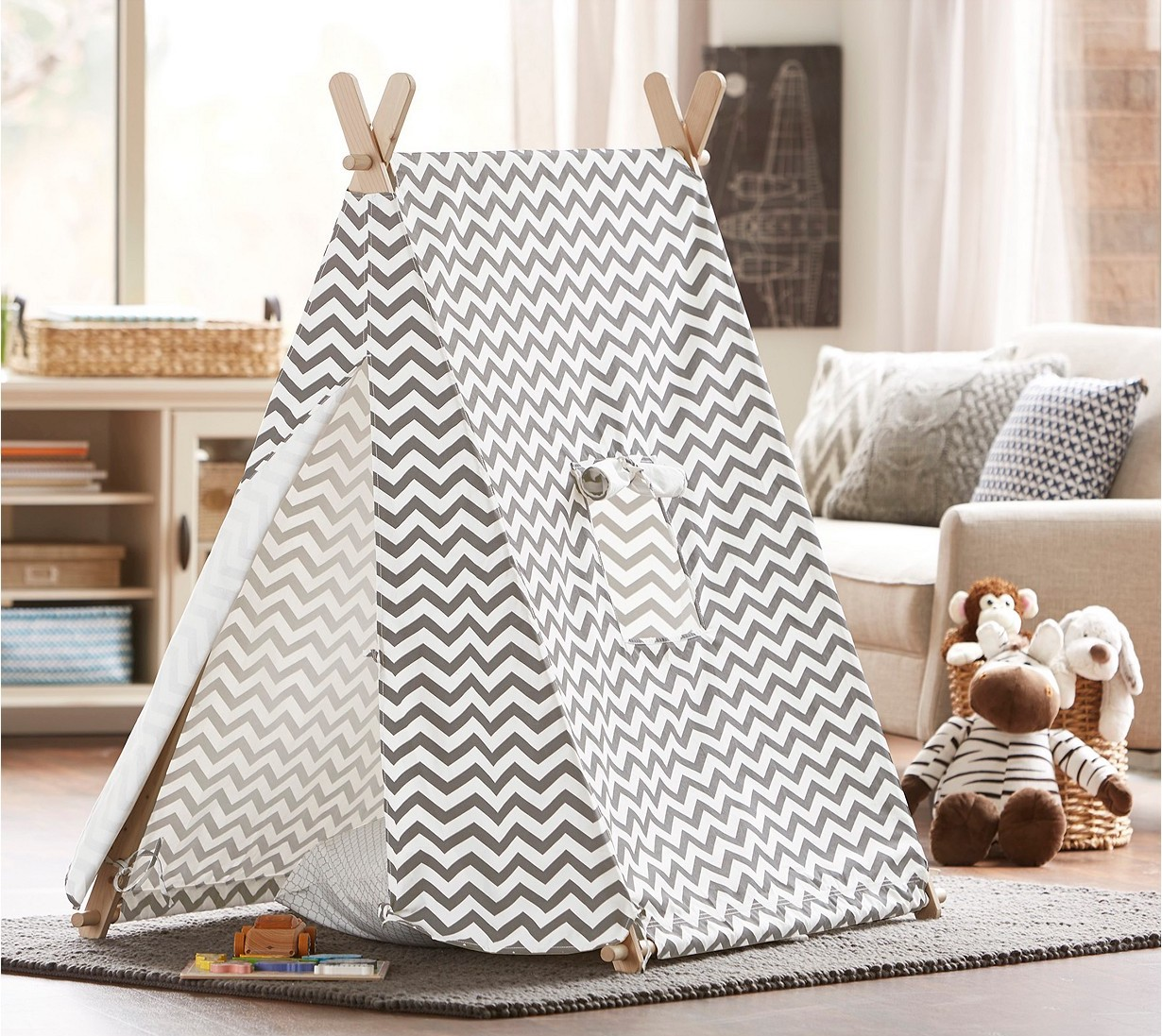 A tent designed for kids.