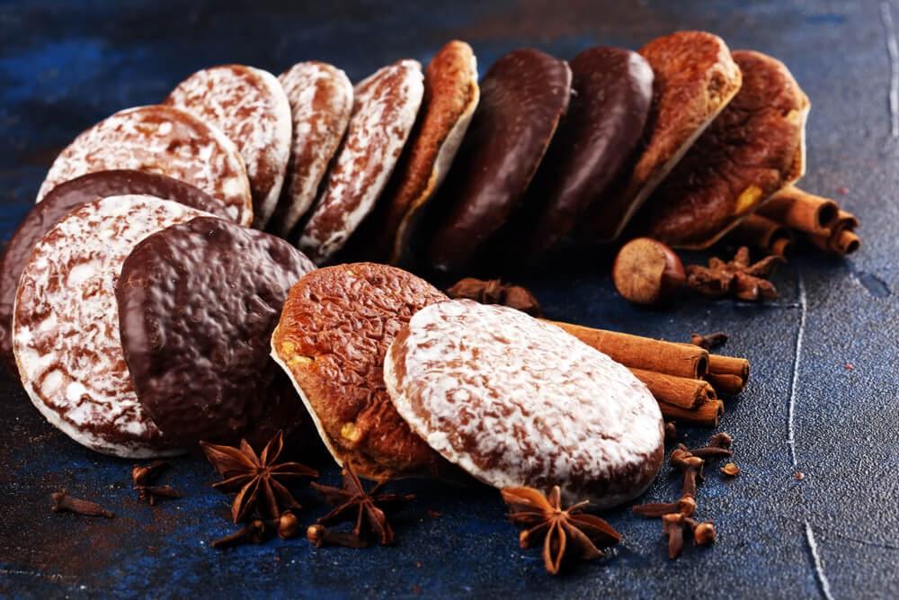 German Gingerbread or Lebkuchen Cookies