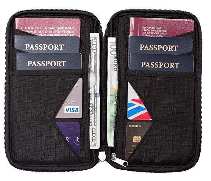 Zero Grid Travel Wallet & Family Passport Holder