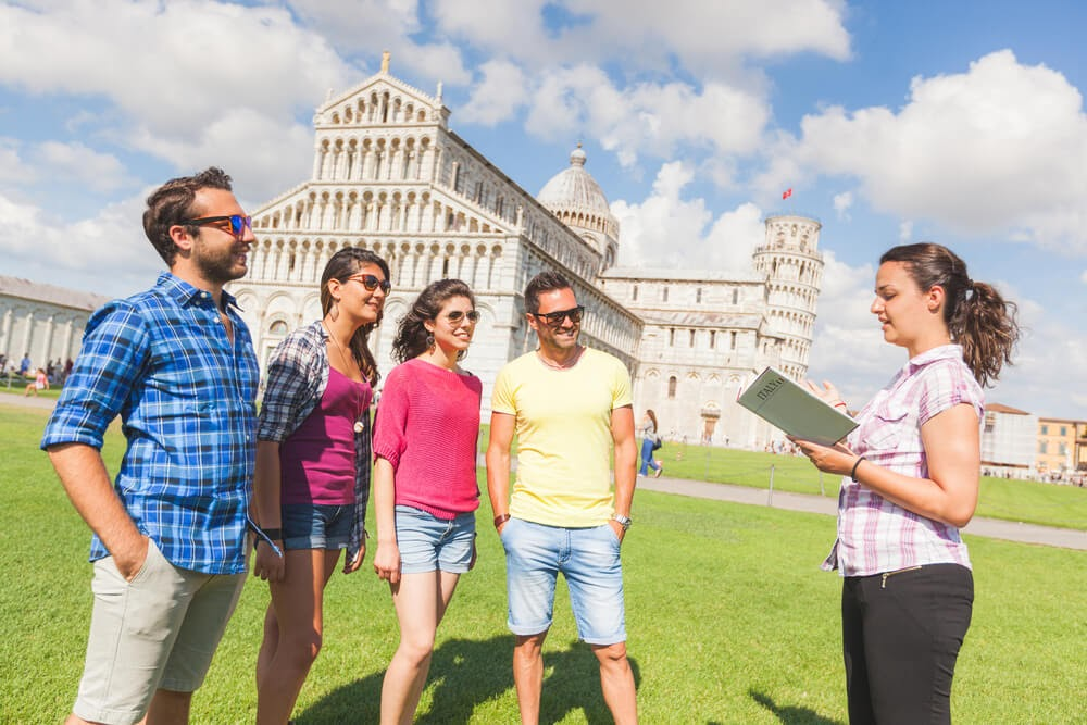 tour guide in Europe