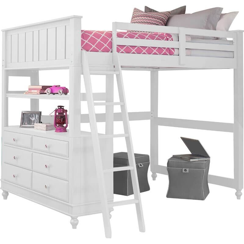 Viv+Rae Lofted Bed with Dresser