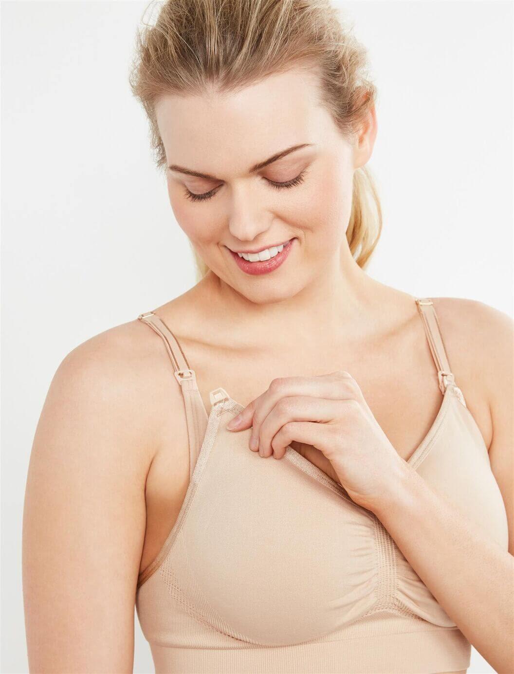Motherhood Maternity Seamless Clip Down Maternity and Nursing Bra
