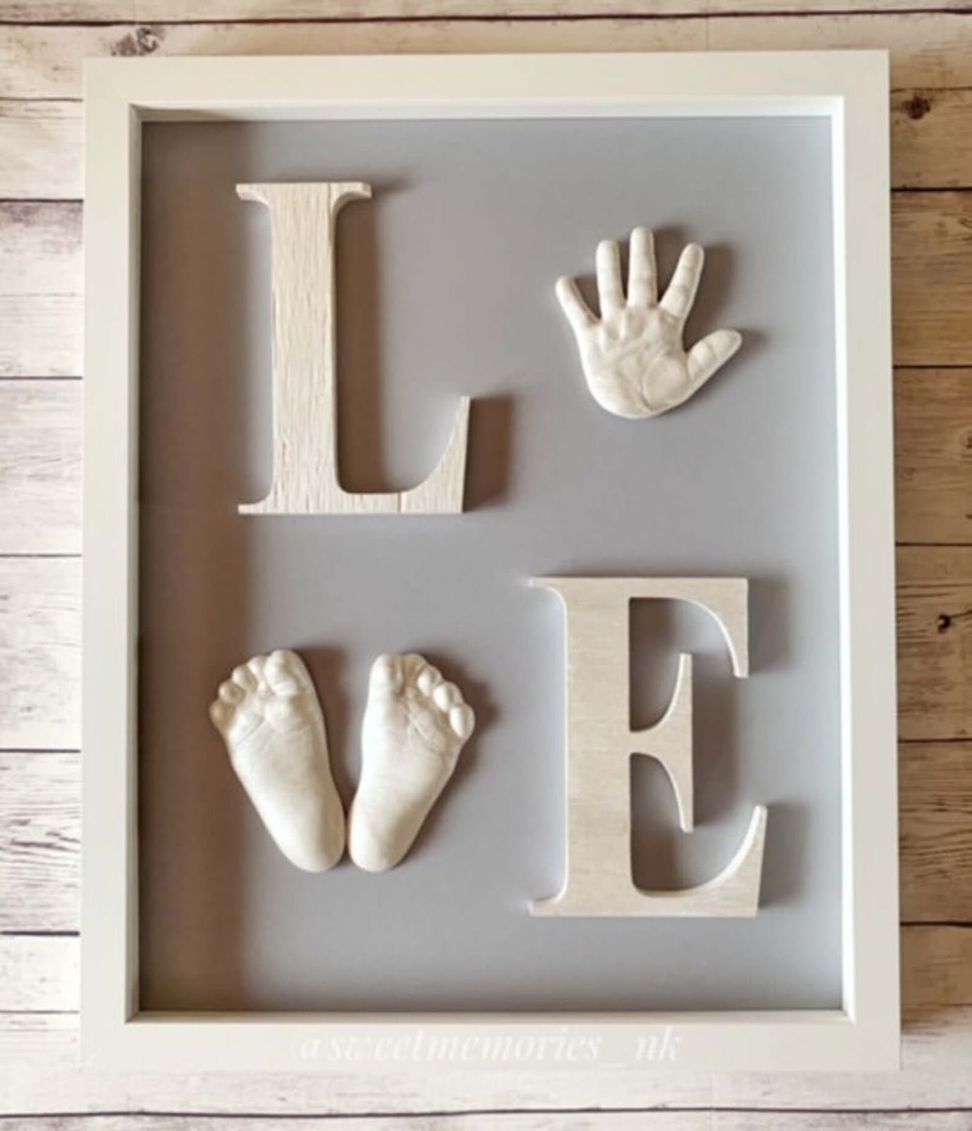 Love Picture frame with baby hand