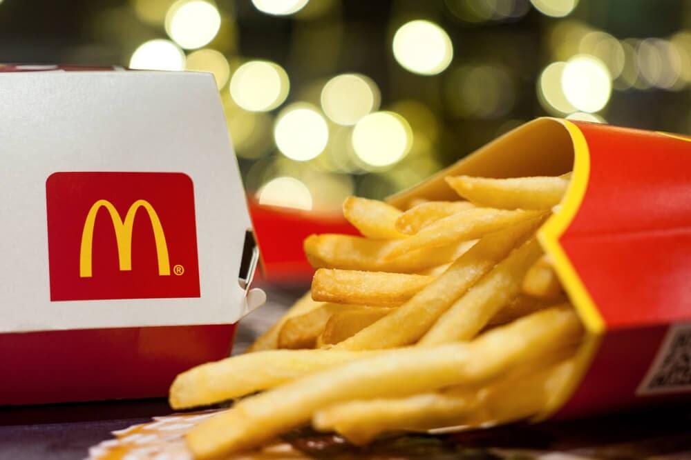 McDonalds fries and burger box