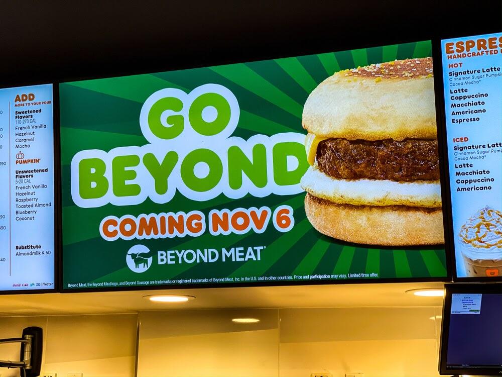 Dunkin Donuts Beyond Breakfast sandwich