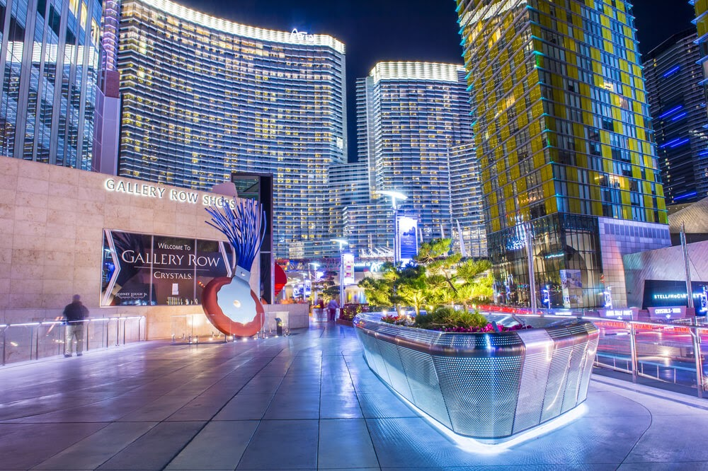 Las Vegas buildings at night