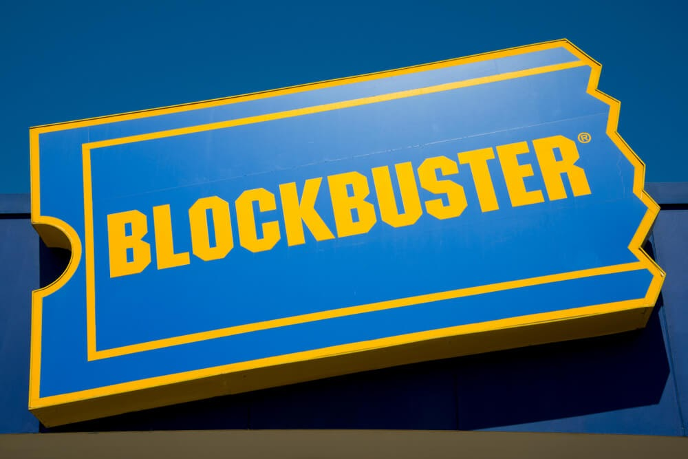 Sign for Blockbuster Video