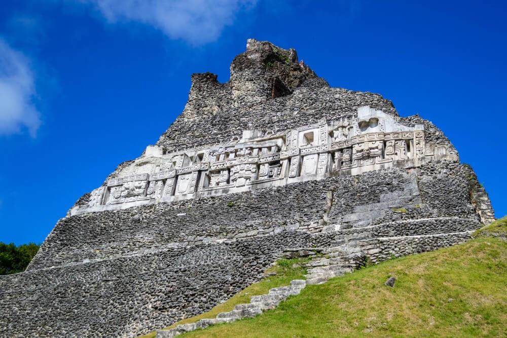 Xunantunich Pyramid in Belize.
