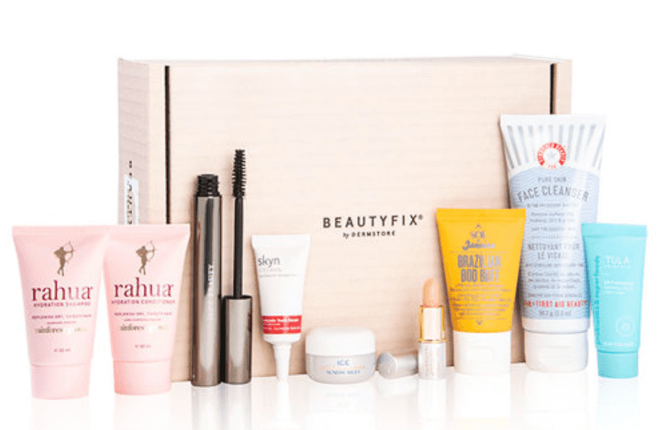 Example of Beauty Fix subscription box