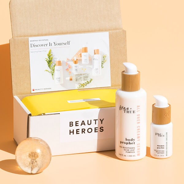 Example of Beauty Heroes subscription box