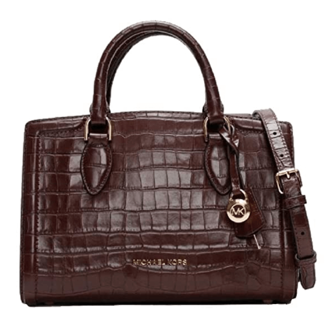 Michael Michael Kors Zoe Medium Crocodile-Embossed Leather Satchel