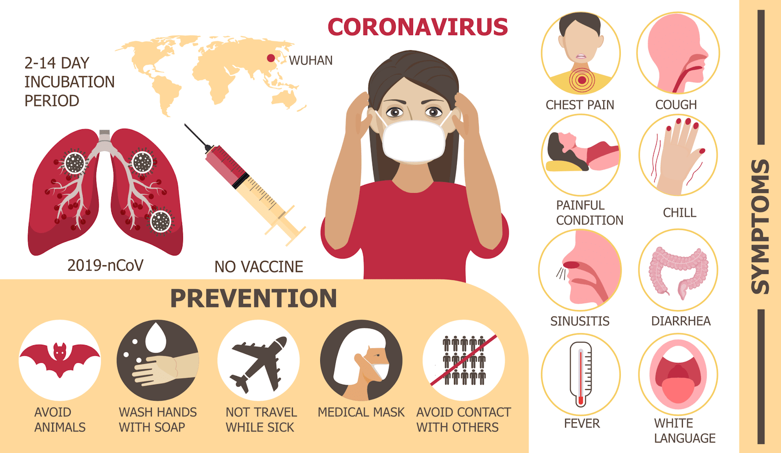Infographic showing how to prevent the Coronavirus