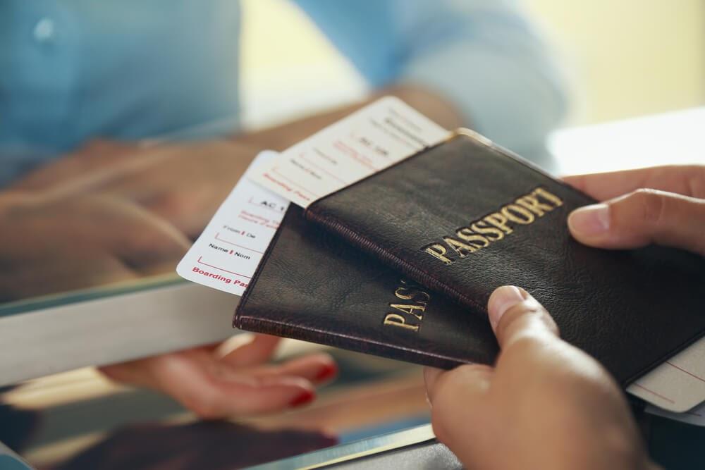 passport with holder