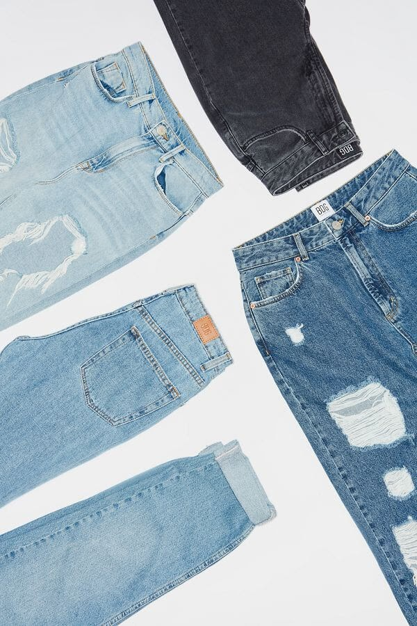Various washes of BDG Jeans.