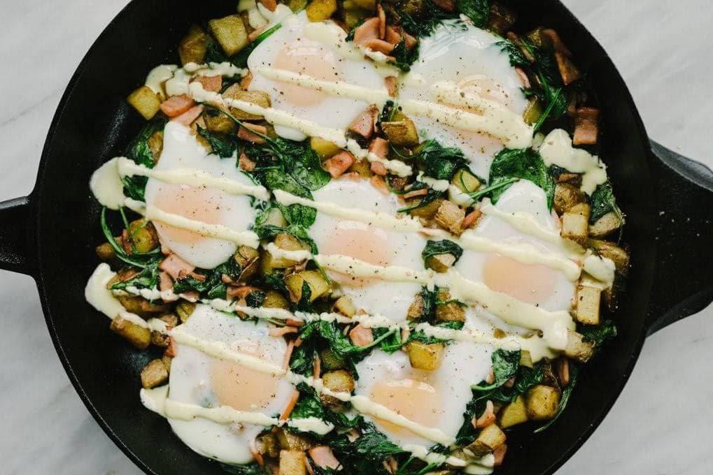 Gluten-Free Eggs Benedict Casserole