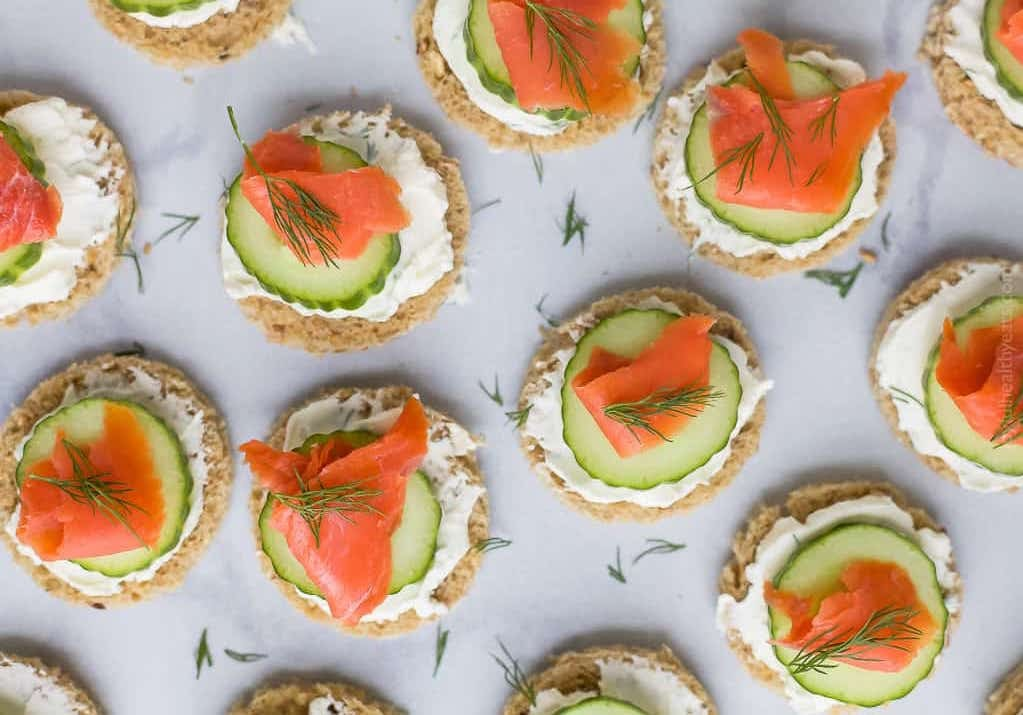Easy Smoked Salmon Cucumber Tea Sandwiches