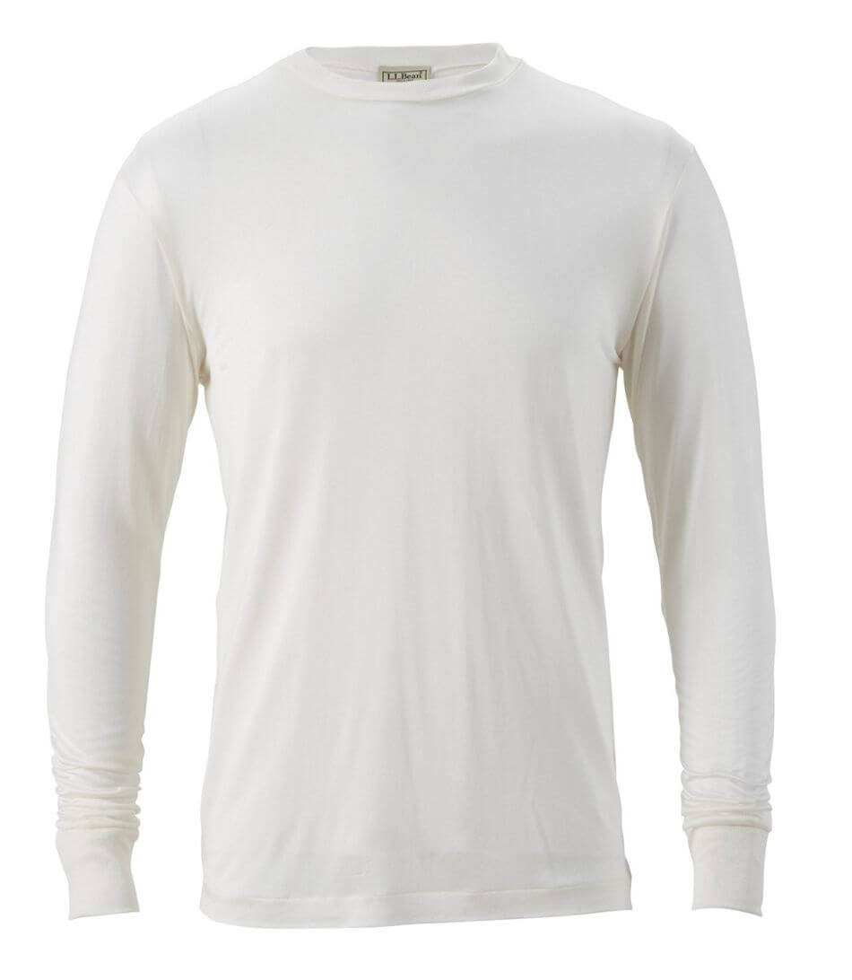 L.L. Bean Men's Silk Underwear, Crewneck