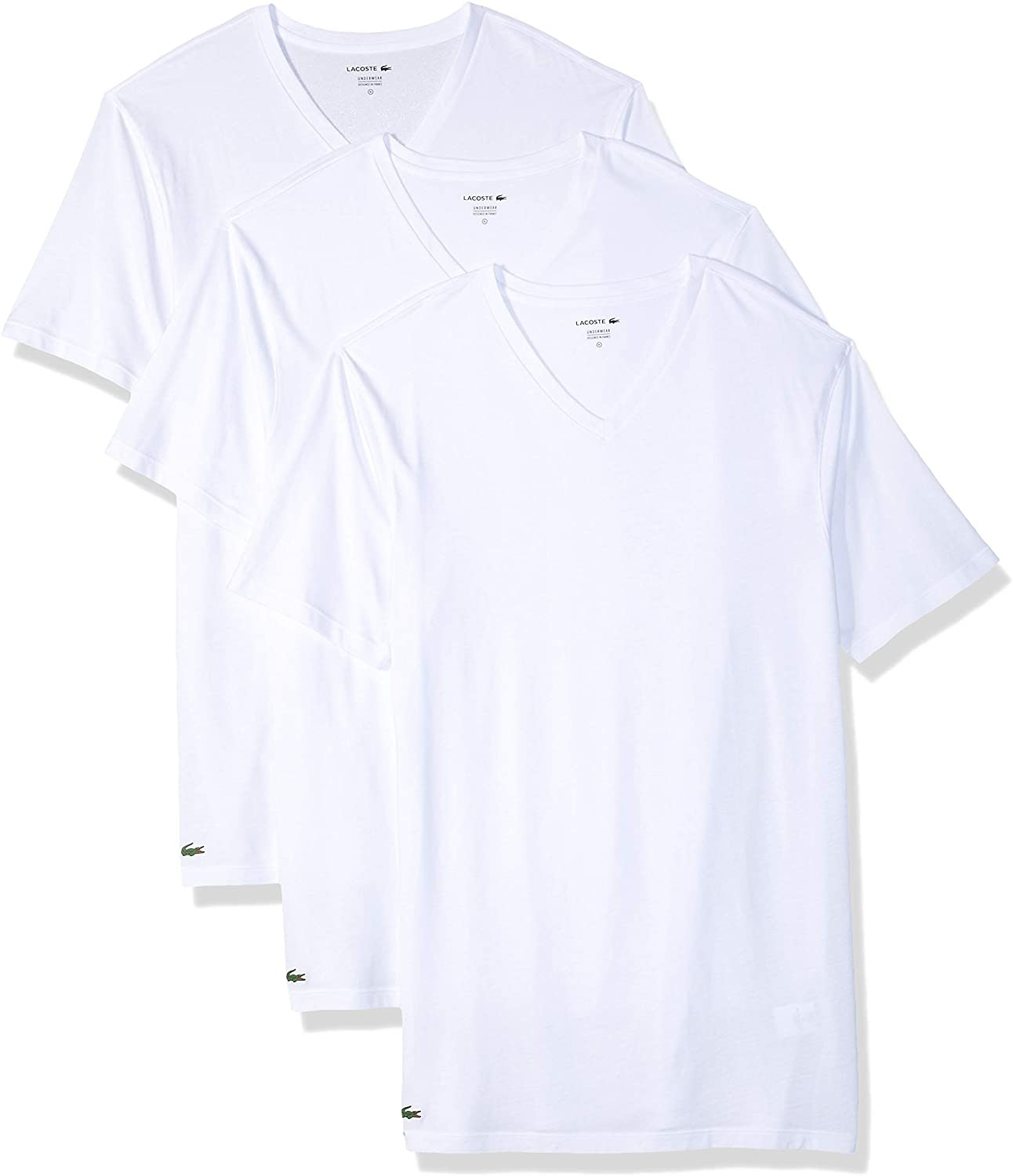 Lacoste 100% Cotton V Neck T-Shirt