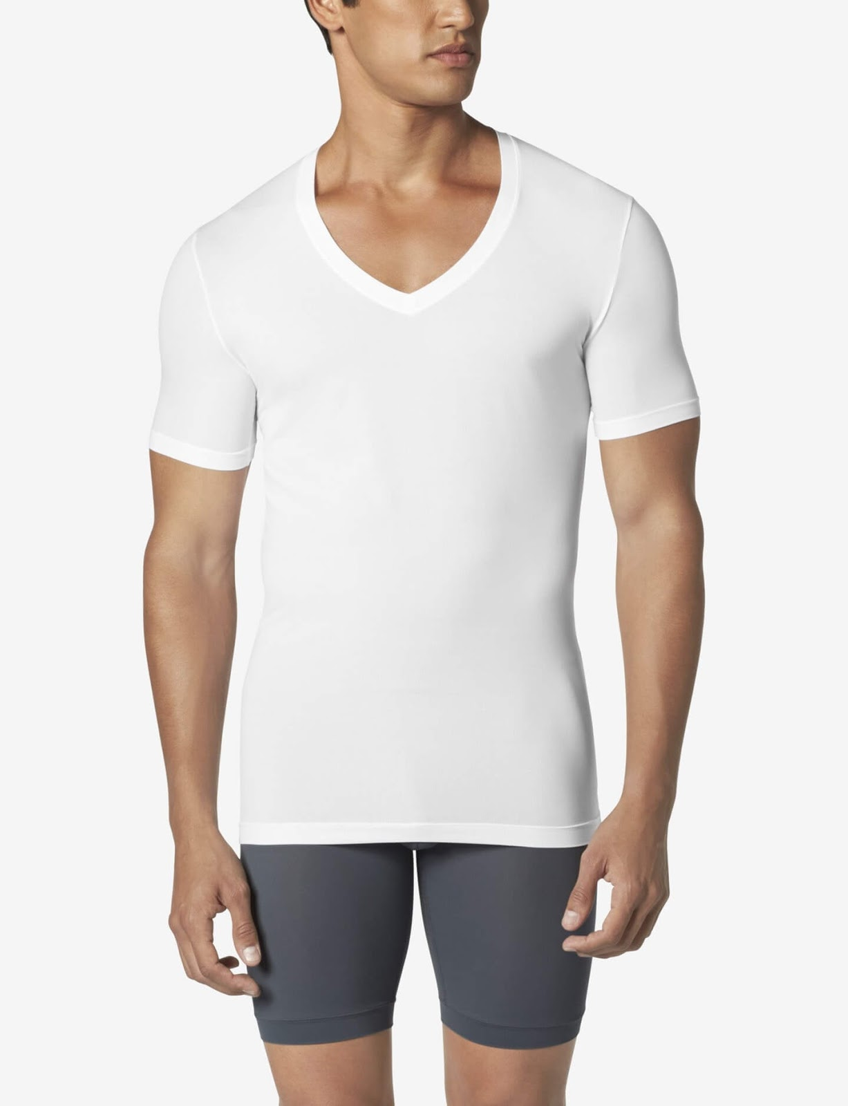 Tommy John Air Deep V-Neck Stay Tucked Undershirt