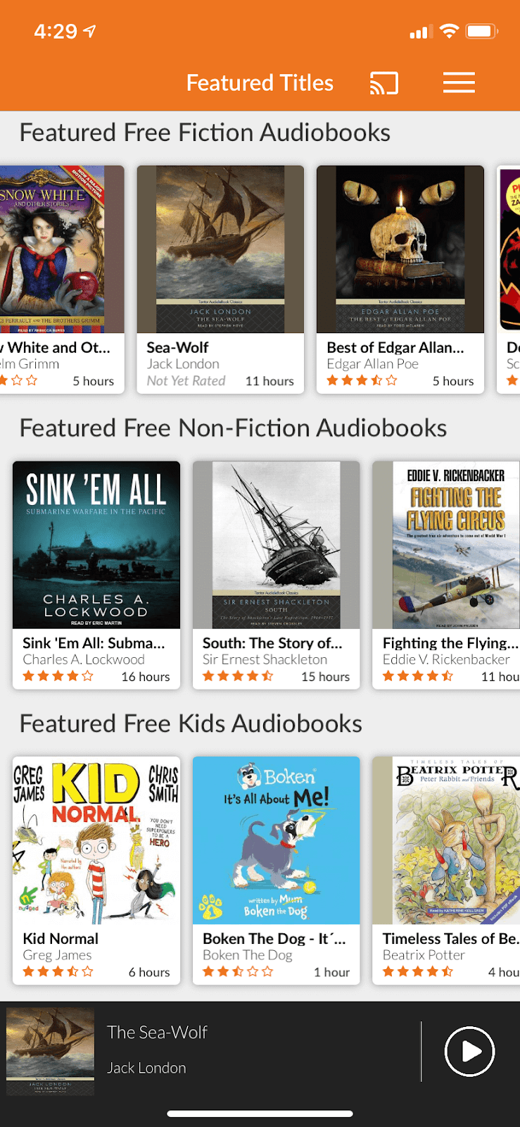 Audiobooks.com screen shot