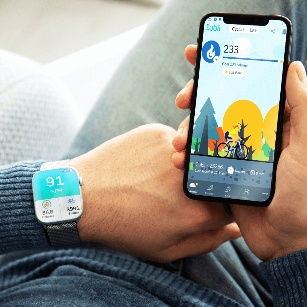 Cubbi smartwatch and app example.