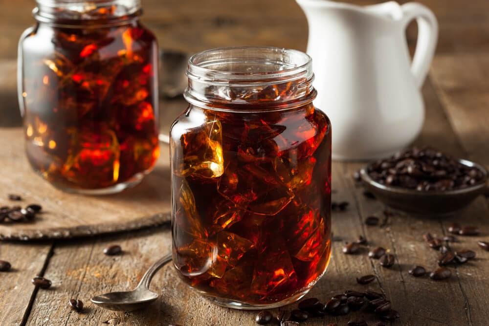 Cold Brew in mason jars