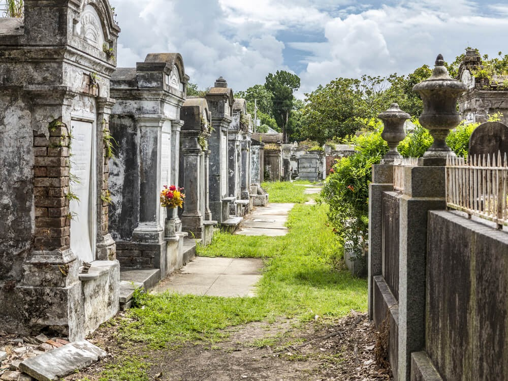 One of New Orleans's many old cemeteries.