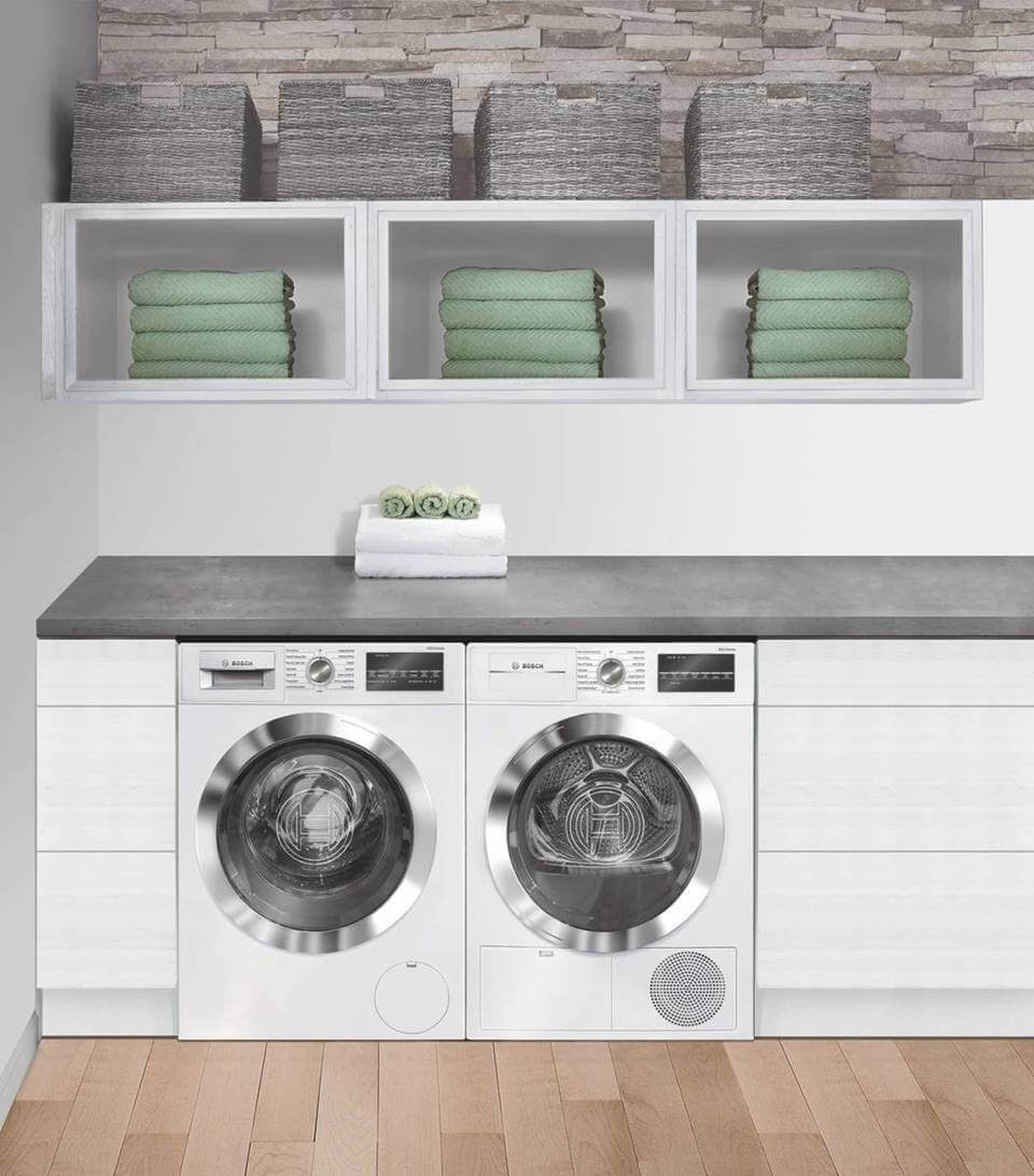 Bosch 800 Series Front Load Washer & Bosch 800 Series Compact Ventless Electric Dryer