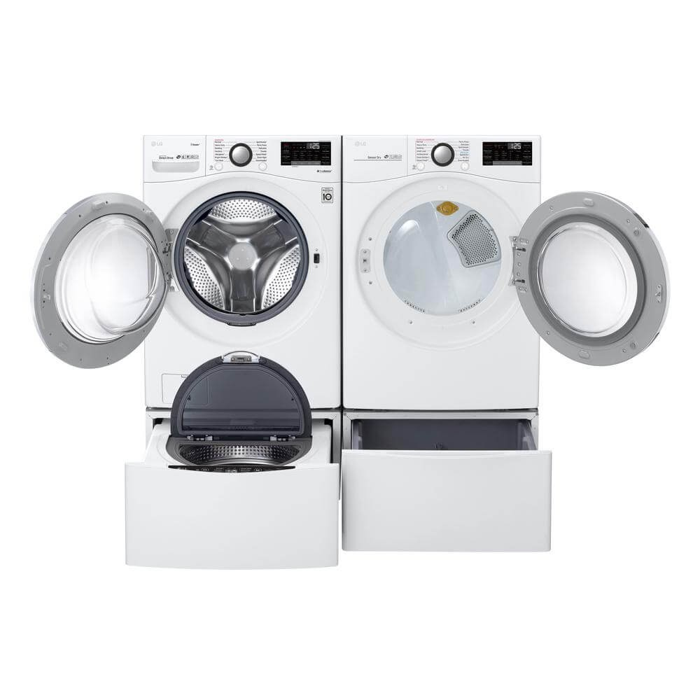 LG Electronics High Efficiency Ultra Large Smart Front Load Washer ENERGY STAR & Ultra Large Smart Stackable Front Load Dryer