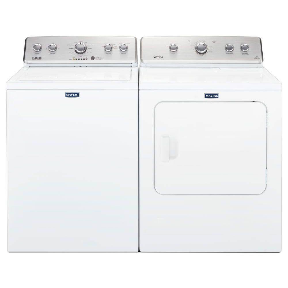 Maytag Top Load Washing Machine with Deep Fill Option & Maytag Electric Vented Dryer with Wrinkle Control