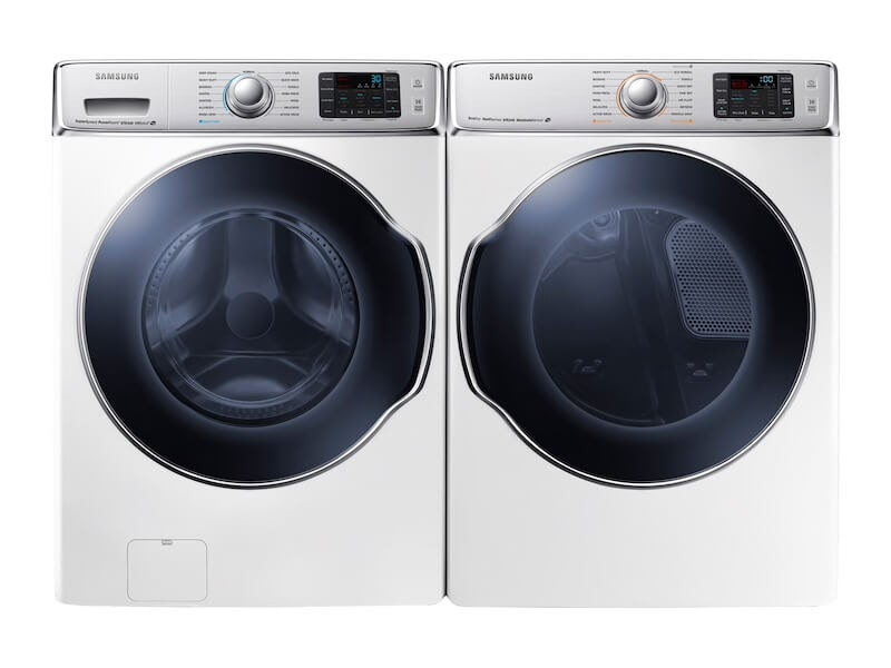 Samsung Front Load Washer with SuperSpeed & Samsung Gas Dryer with Steam Sanitize+