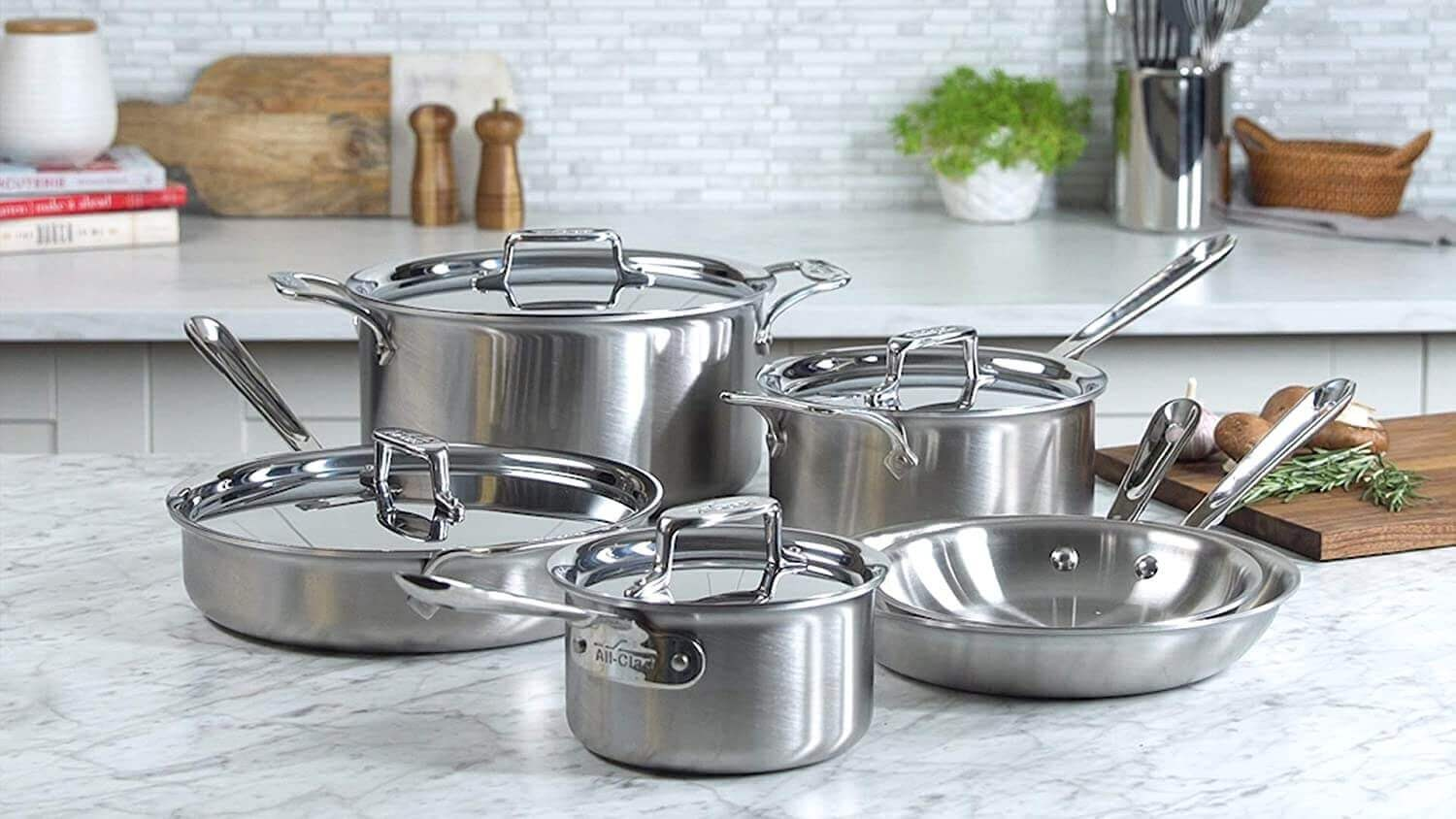 All-Clad d5 Brushed Stainless Steel 10 Piece Set