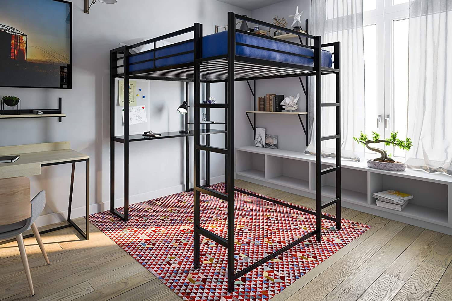 DHP Abode Full-Size Loft Bed