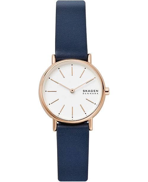 Skagen Signature Leather Strap Watch