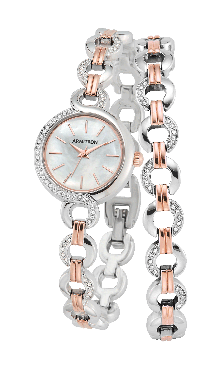 Armitron Two-Tone Watch and Bracelet Set