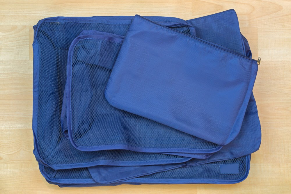 Blue packing cube example.