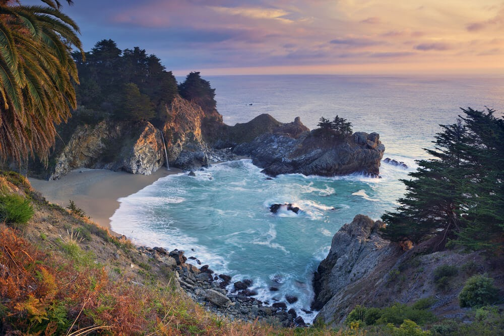 Big Sur, California beach from above
