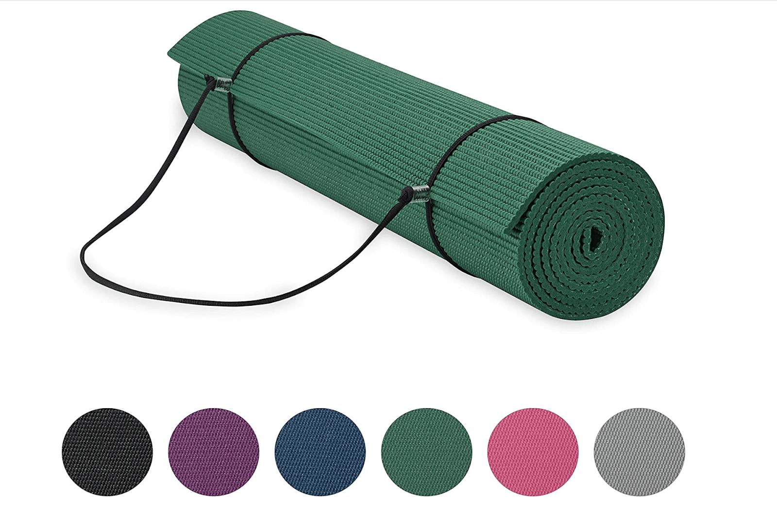 Gaiam Essentials Premium Yoga Mat with Yoga Mat Carrier Sling