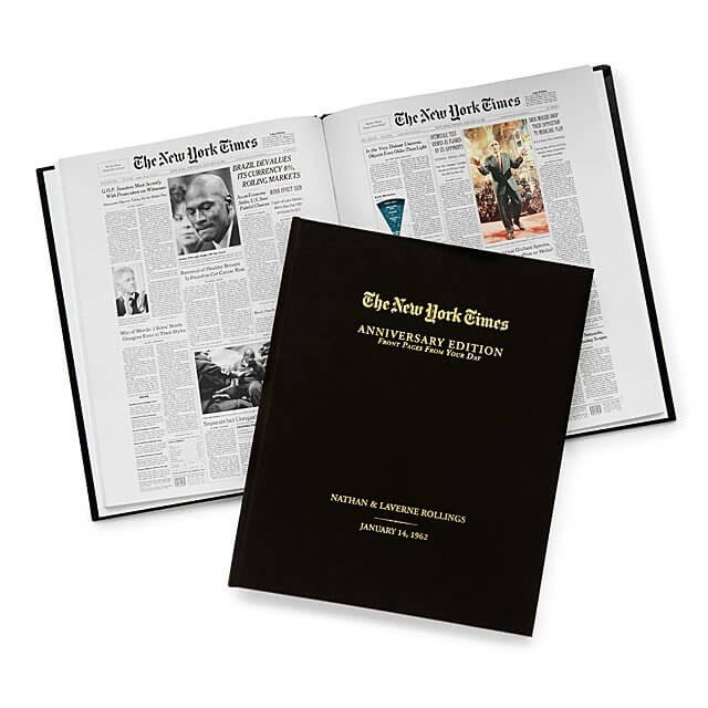 New York Times Custom Anniversary Book