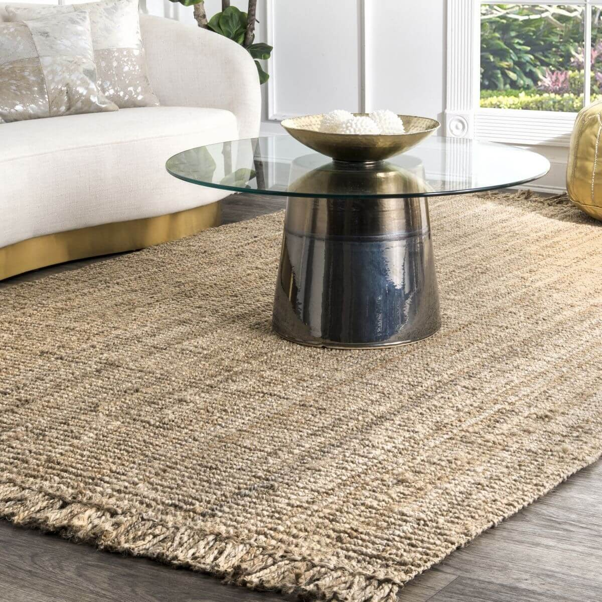Natural Chunky Loop Area Rug