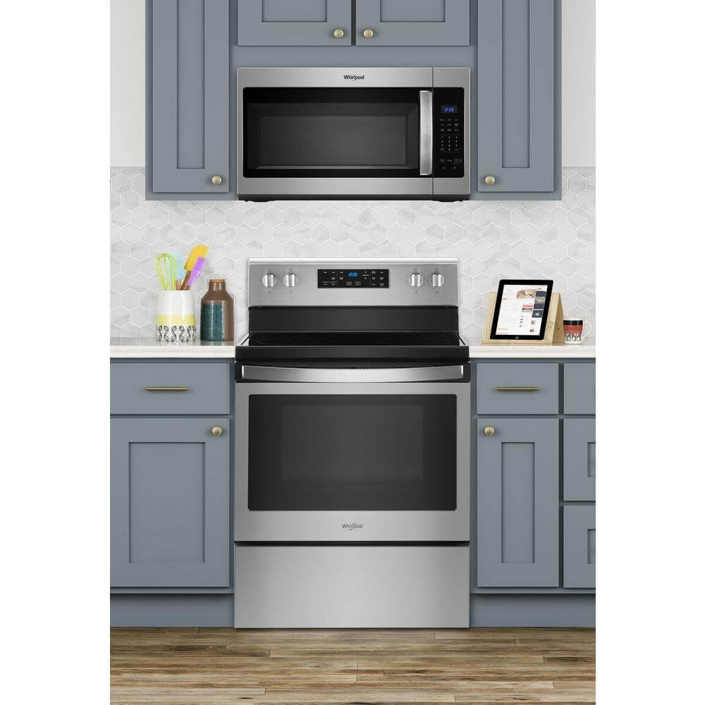 Whirlpool 1.7 cubic feet Over the Range Microwave in Stainless Steel with Electronic Touch Controls