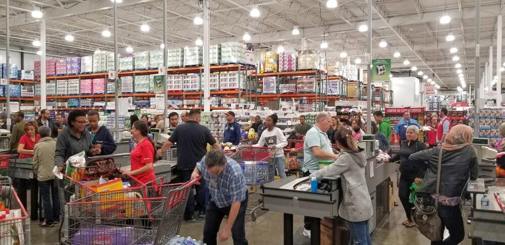 Busy Costco Center