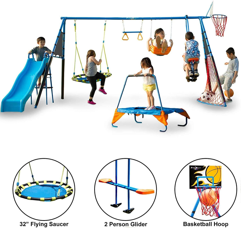 Fitness Reality Kids Sports Series Metal Swing Set