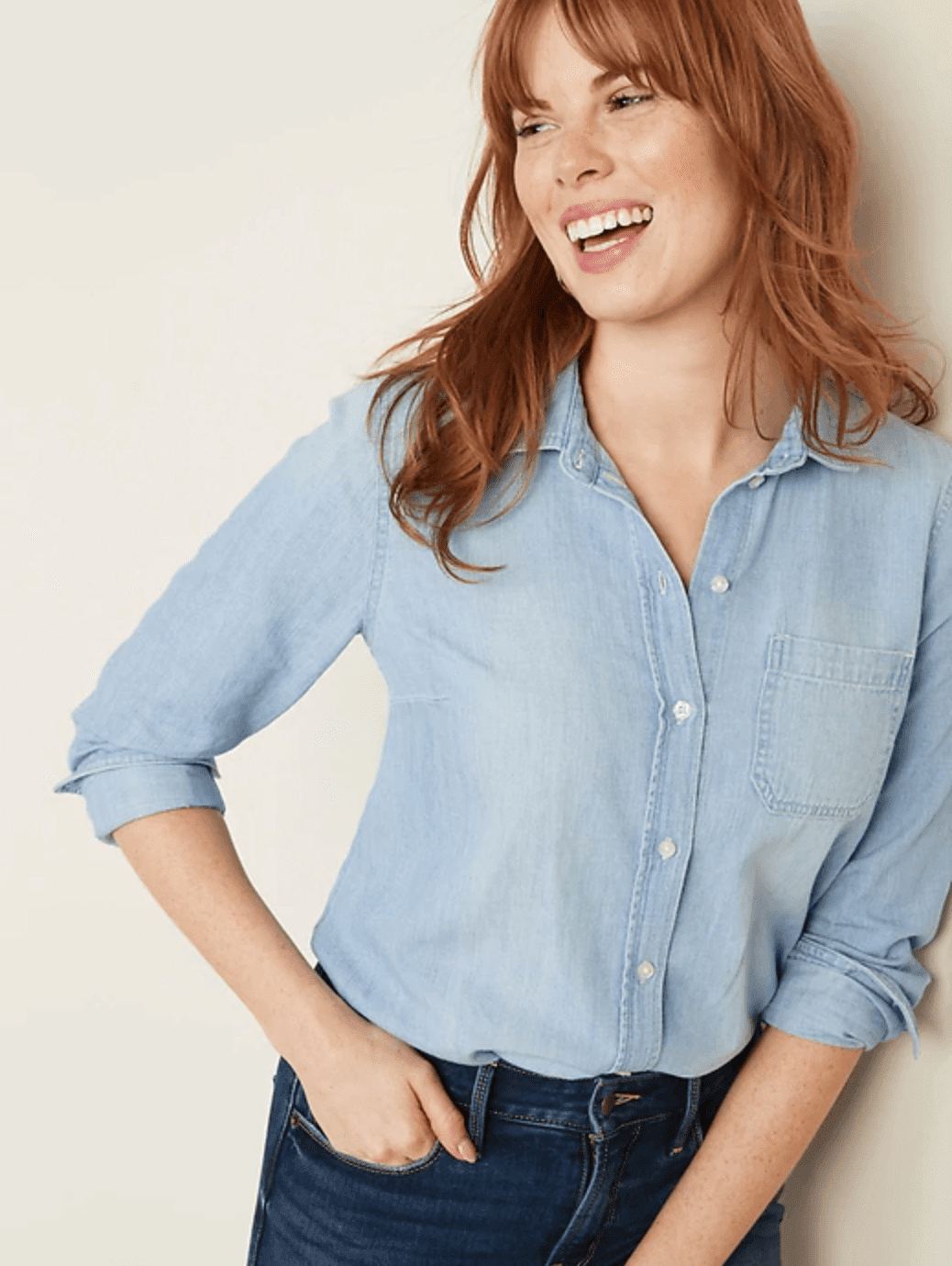 Old Navy Relaxed Chambray Shirt