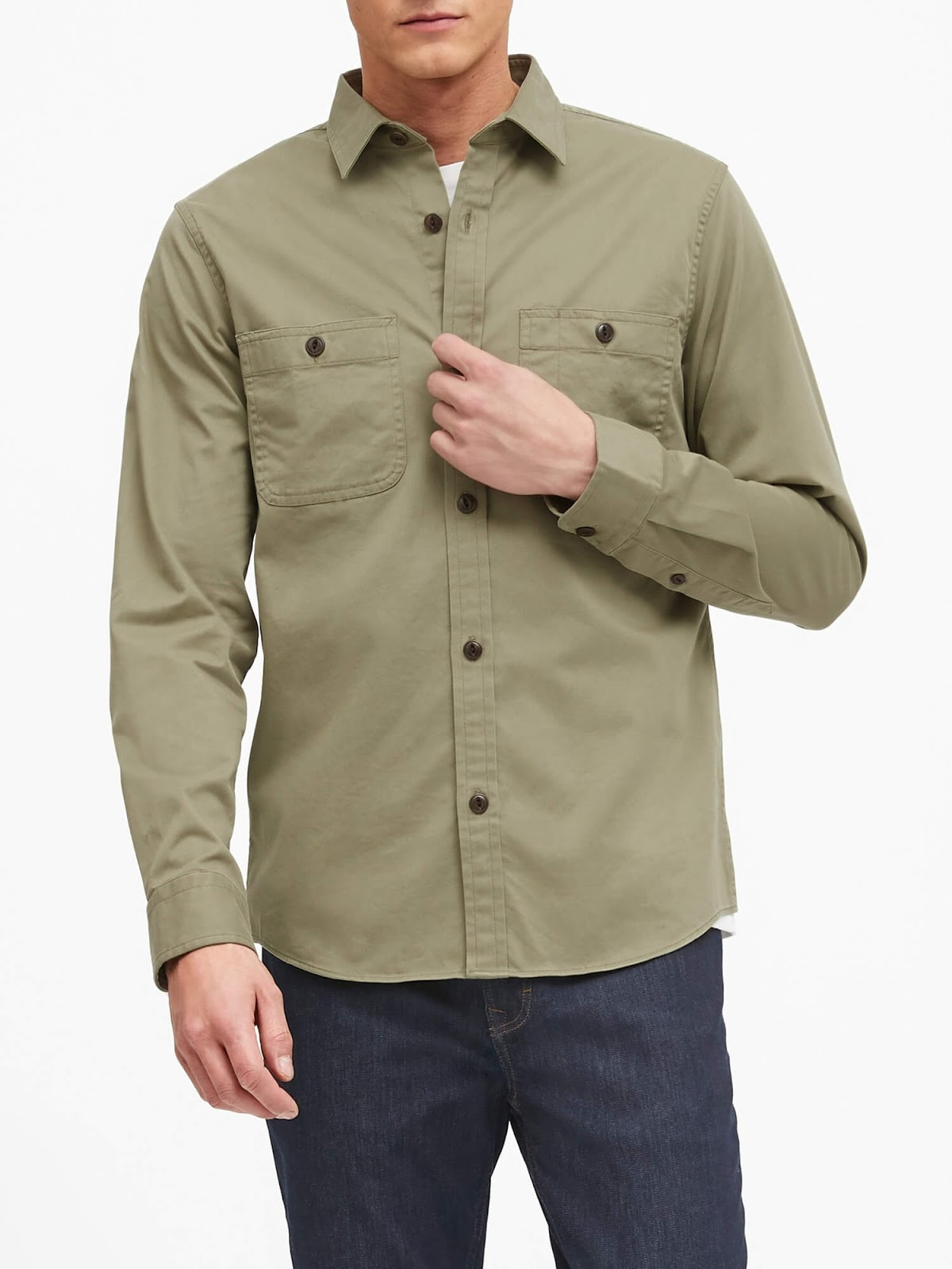 Banana Republic Slim Twill Overshirt